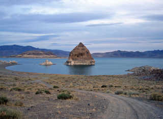 Fishing at Pyramid Lake