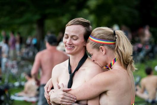 Best time to see World Naked Bike Ride in Portland