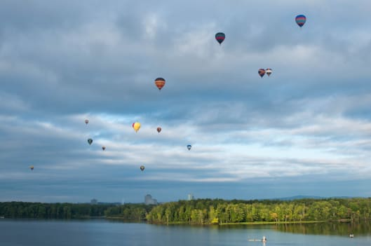 Best time for Gatineau Hot Air Balloon Festival in Ottawa
