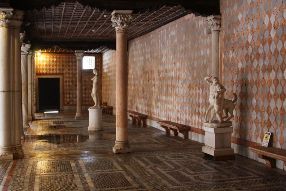 Interior of the Ca d'Oro art gallery