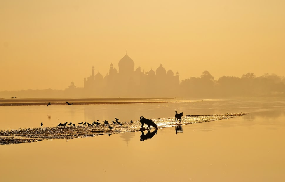 Best time for Sunrise and Sunset near Taj Mahal in Taj Mahal and Agra