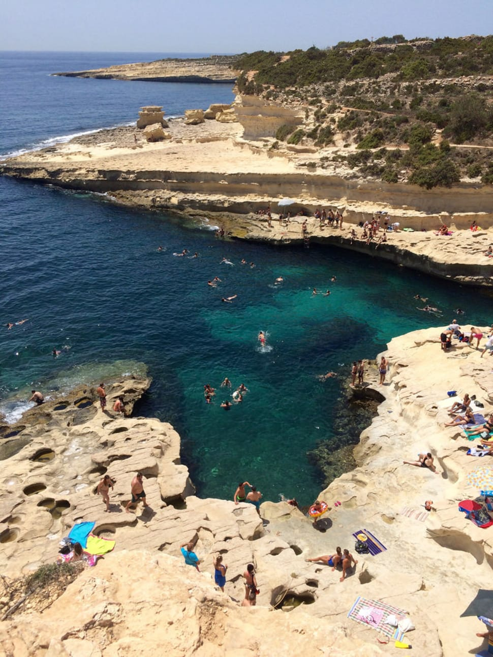 Swimming at Saint Peter's Pool in Malta - Best Season