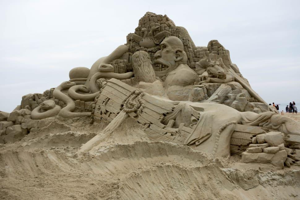 Best time for Haeundae Sand Festival in South Korea