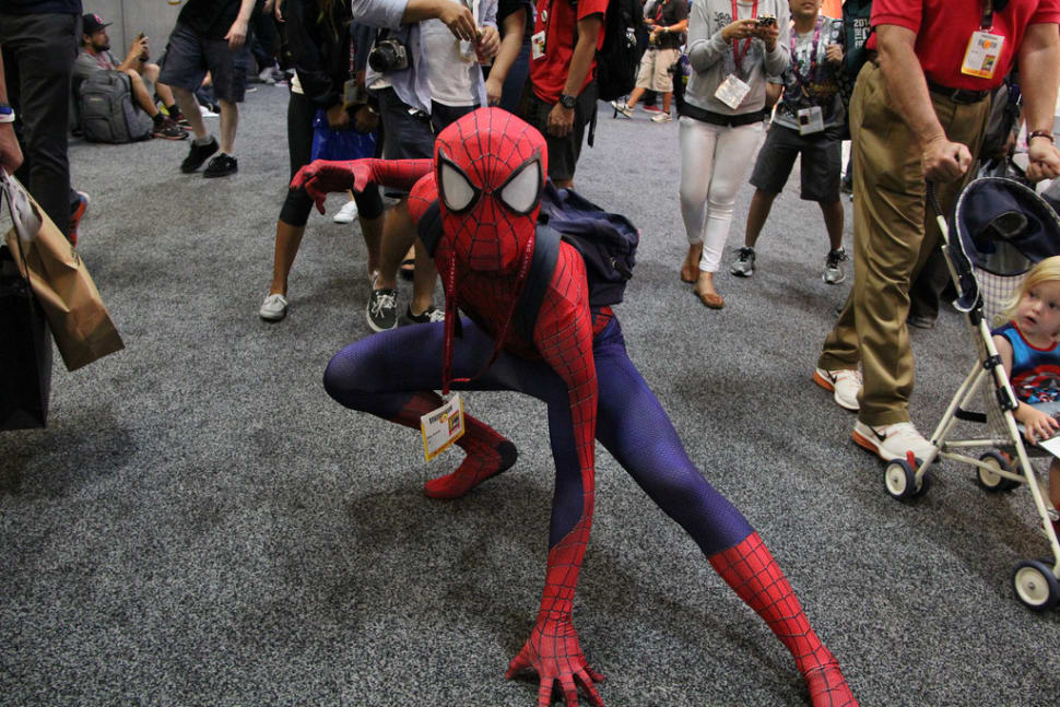 A Spider-Man cosplay