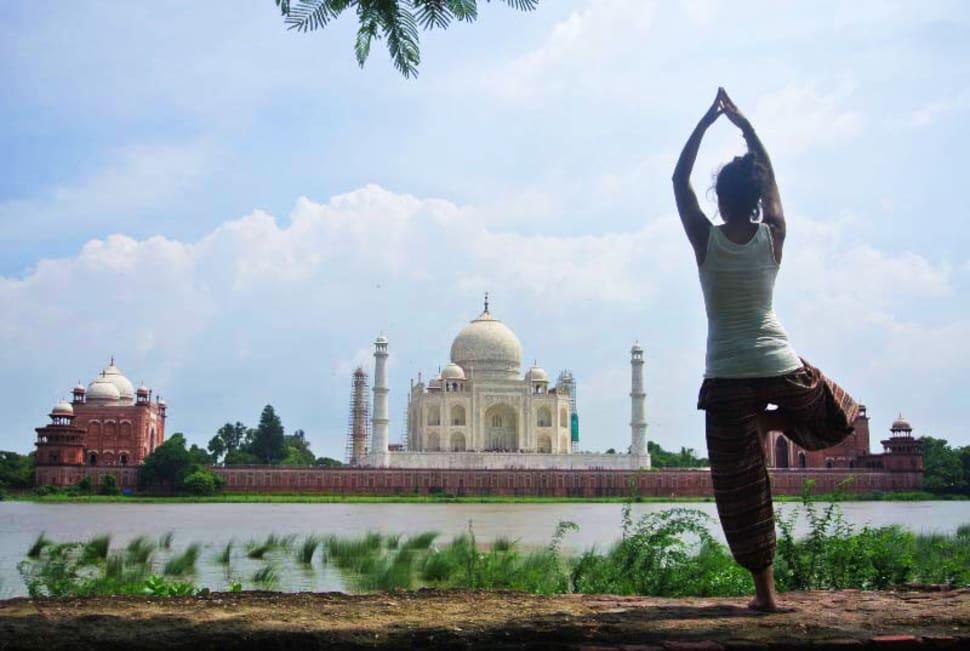 Best time for Yoga Classes Facing Taj Mahal in Taj Mahal and Agra