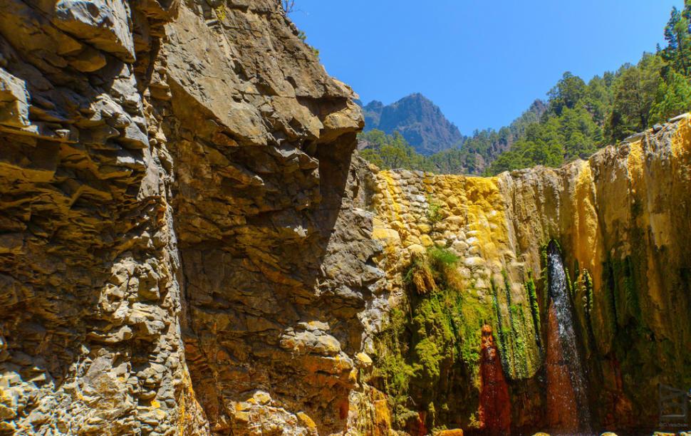 Cascade of Colours in Caldera de Taburiente in Canary Islands - Best Season