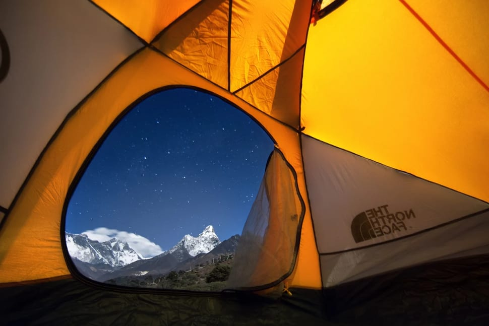 View over Mt. Everest from the Nepalese side