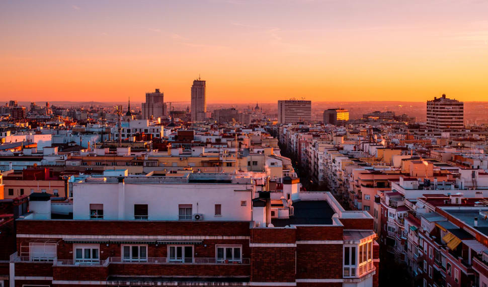 Rooftop Terraces at Sunset in Madrid - Best Season