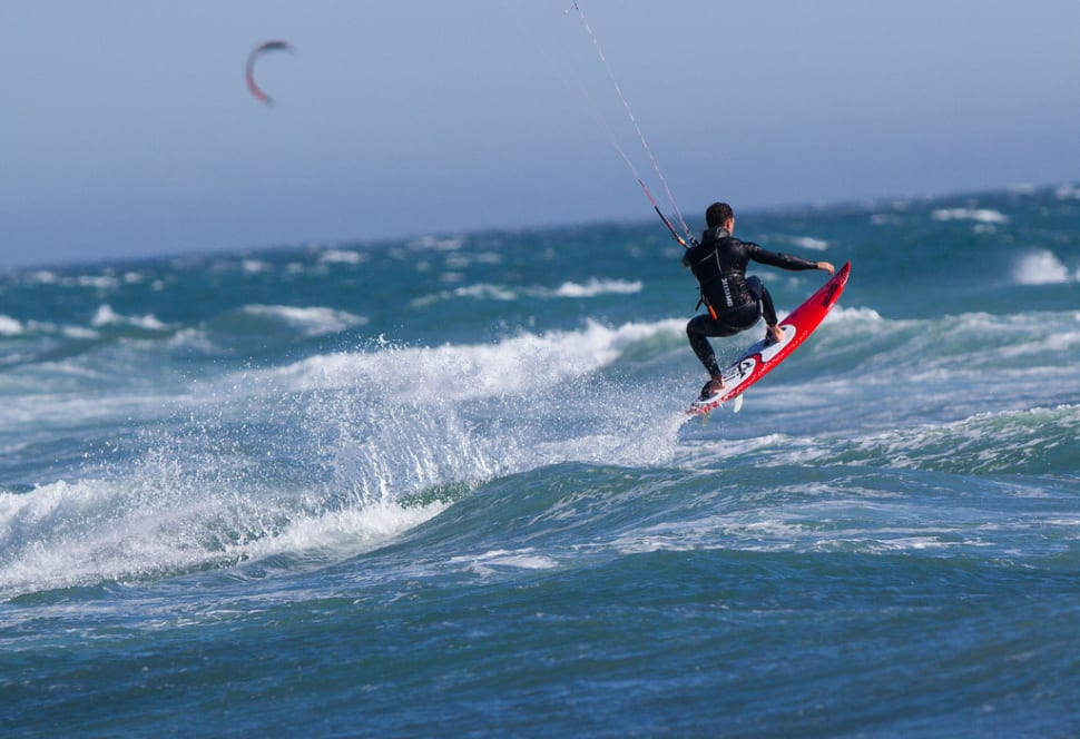 Kiteboarder at Waddell Creek