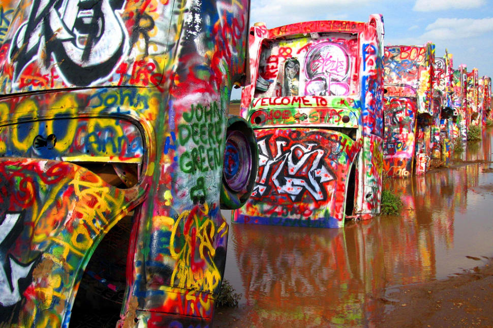 Cadillac Ranch in Texas - Best Time