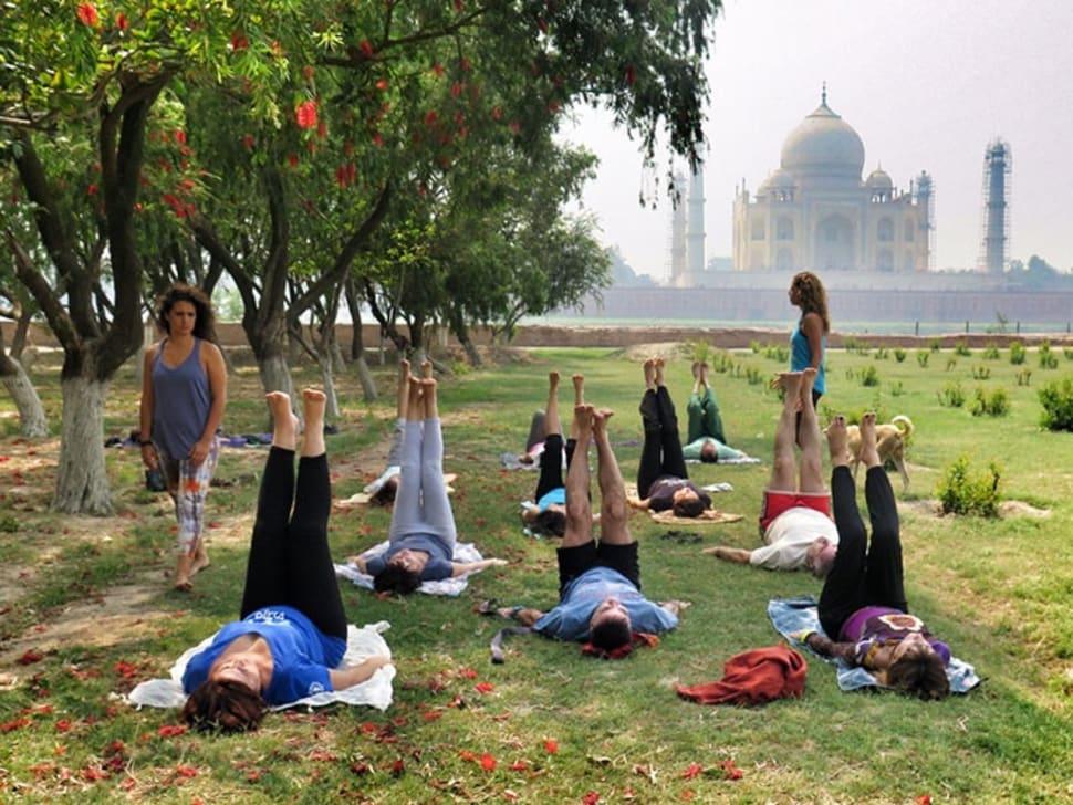 Yoga Classes Facing Taj Mahal in Taj Mahal and Agra  - Best Season