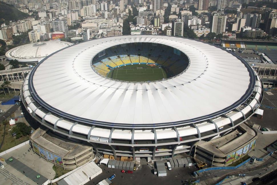 The stadium exterior