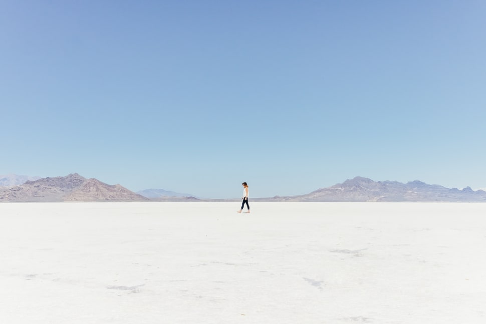 Dry Bonneville Salt Flats in Utah - Best Time