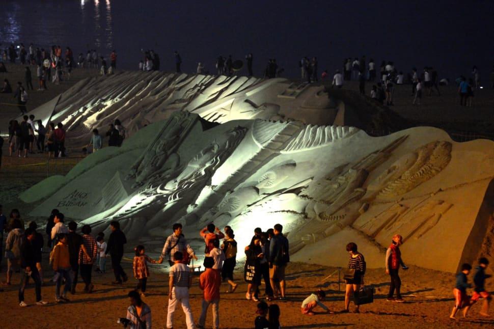 Best time for Haeundae Sand Festival
