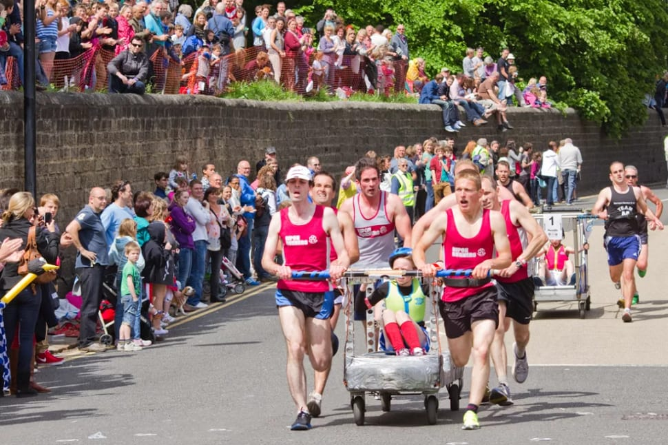 Best time for Knaresborough Bed Race in England