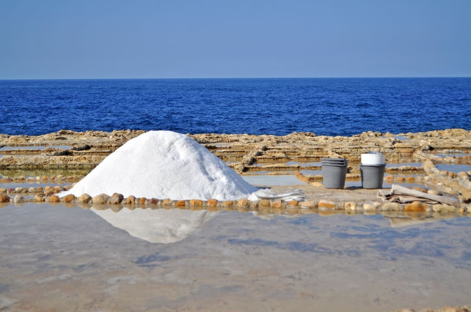 Sea salt on Gozo Island