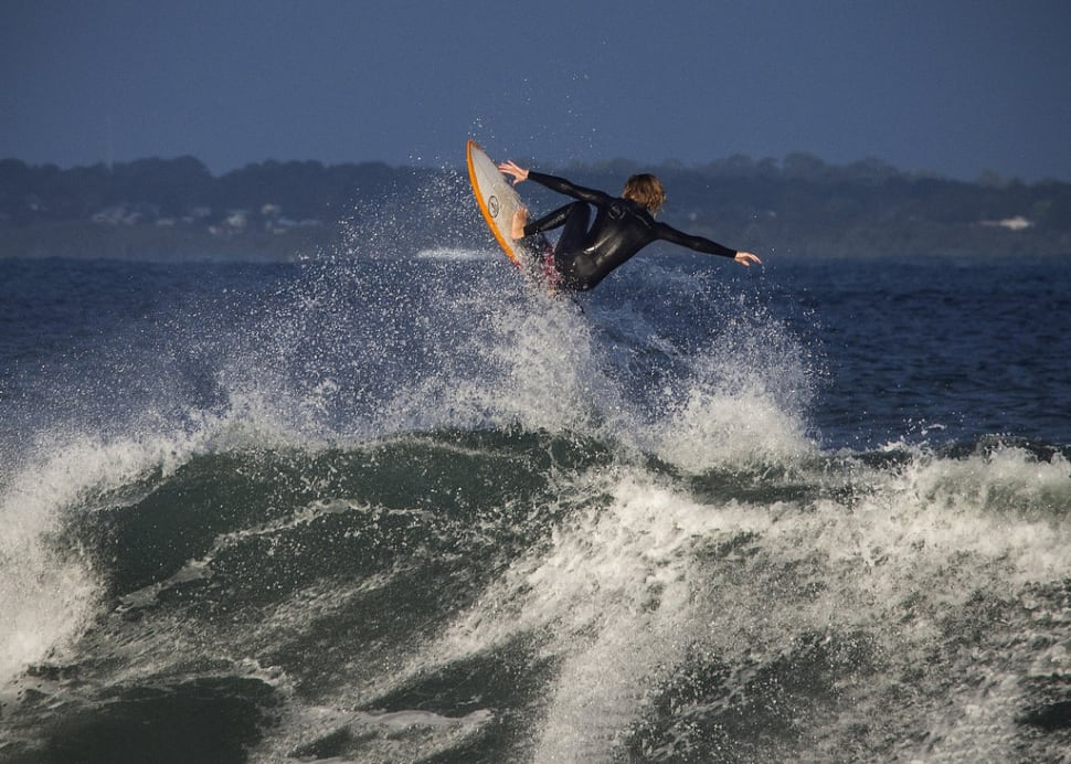 Surfing at Point Leo, Mornington Peninsula