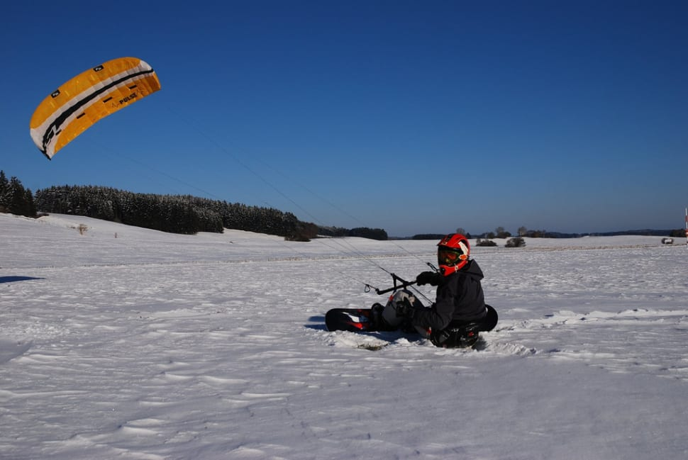Best time for Snowkiting in Bavaria