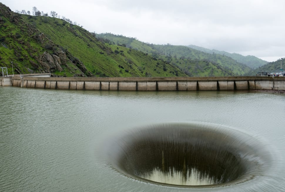 Monticello Dam Morning Glory Spillway in California - Best Time