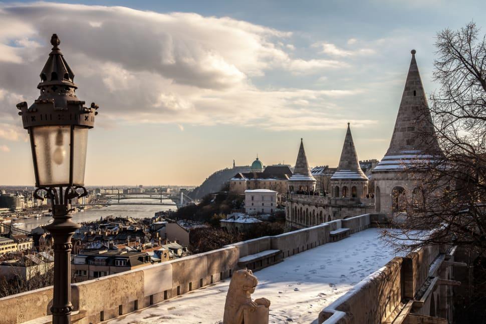 Winter Wonderland at the Fisherman's Bastion in Budapest - Best Season