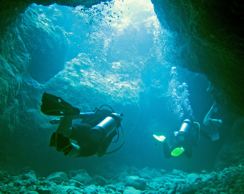 Swim through the Sunset Caves, Rarotonga