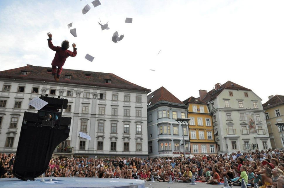 Best time for La Strada Street Theatre Festival in Austria