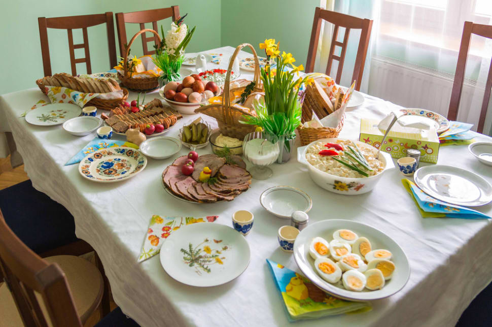 Traditional Easter breakfast