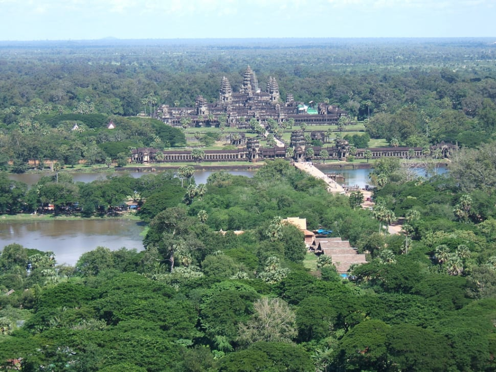 A Helicopter Flight above Angkor Wat in Cambodia - Best Season