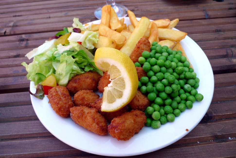 """The scampi and chips, can't really go wrong with this, and it was excellent"""