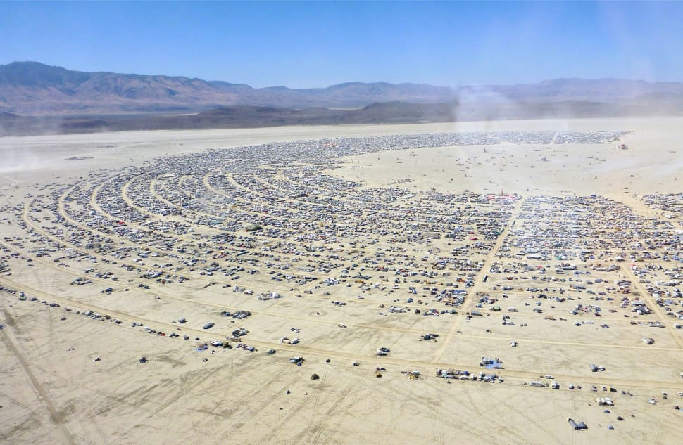 Black Rock City, view from an airlane