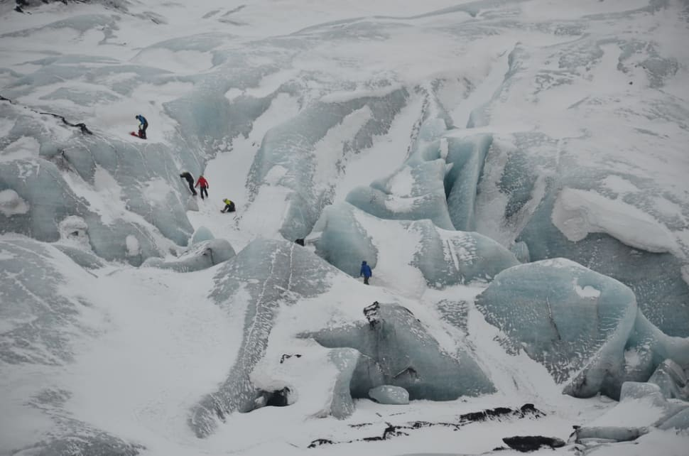 Best time to see Glacier Walking in Iceland