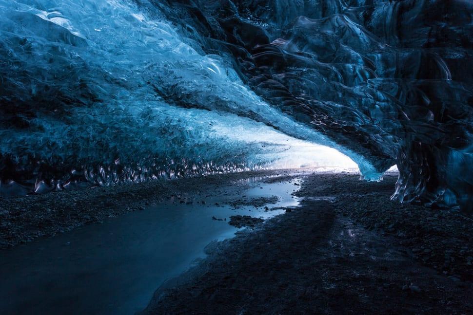Ice caving under the Vatnajökull Glacier (Iceland)