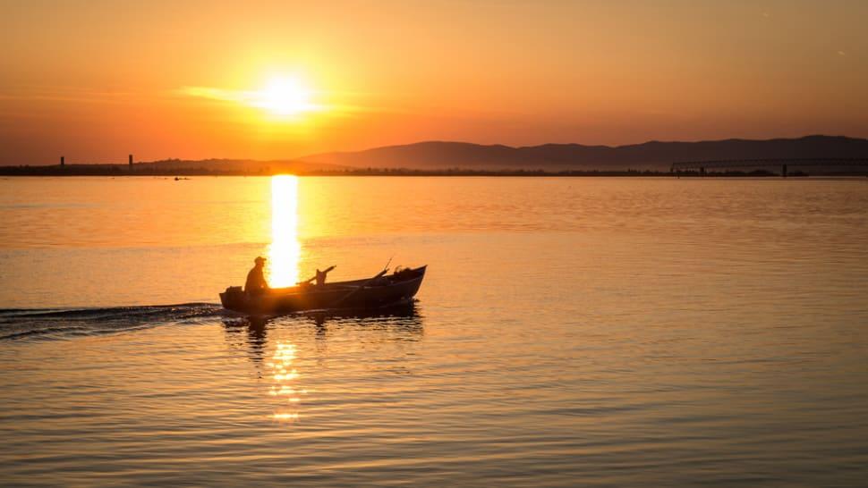 Sunset in Coronini, Western Romania