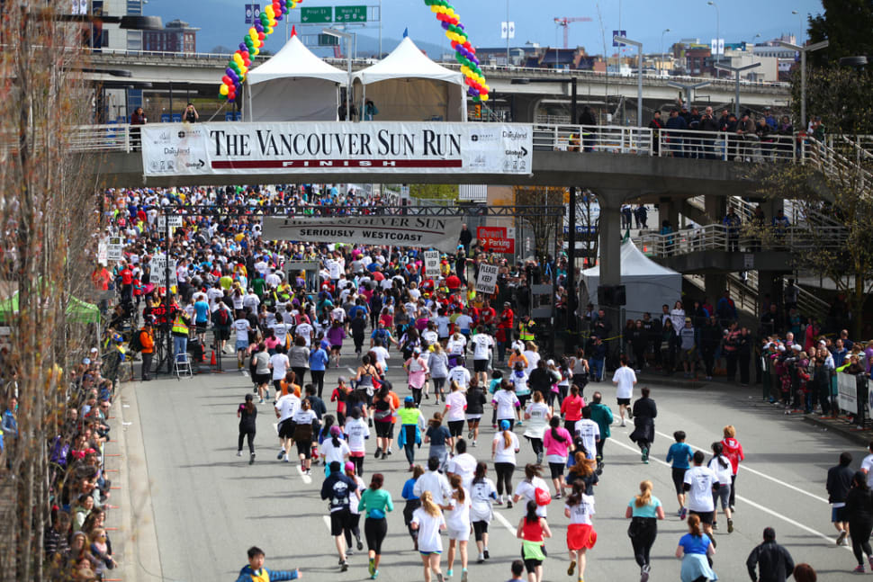 Best time for Vancouver Sun Run in Vancouver