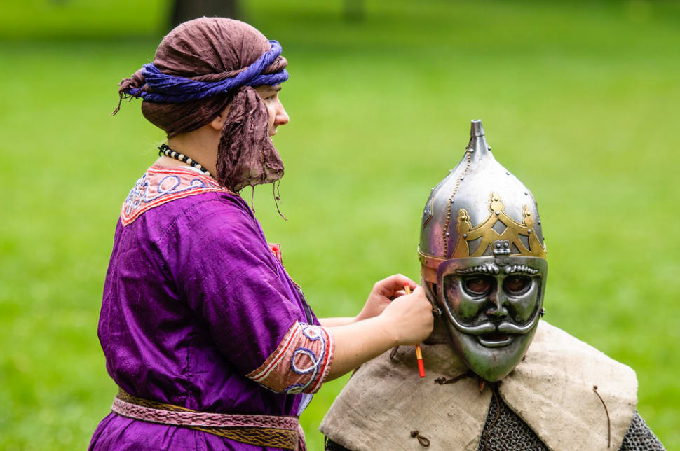 Best time for Medieval Knights Show at the Devín Castle in Slovakia