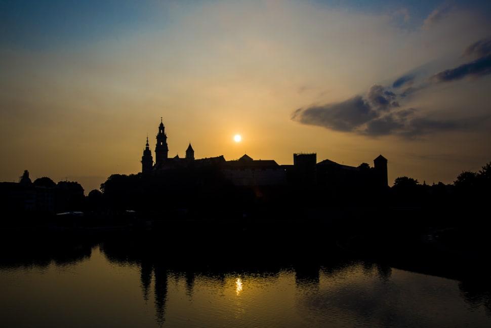 Sunrise near Wawel, Krakow