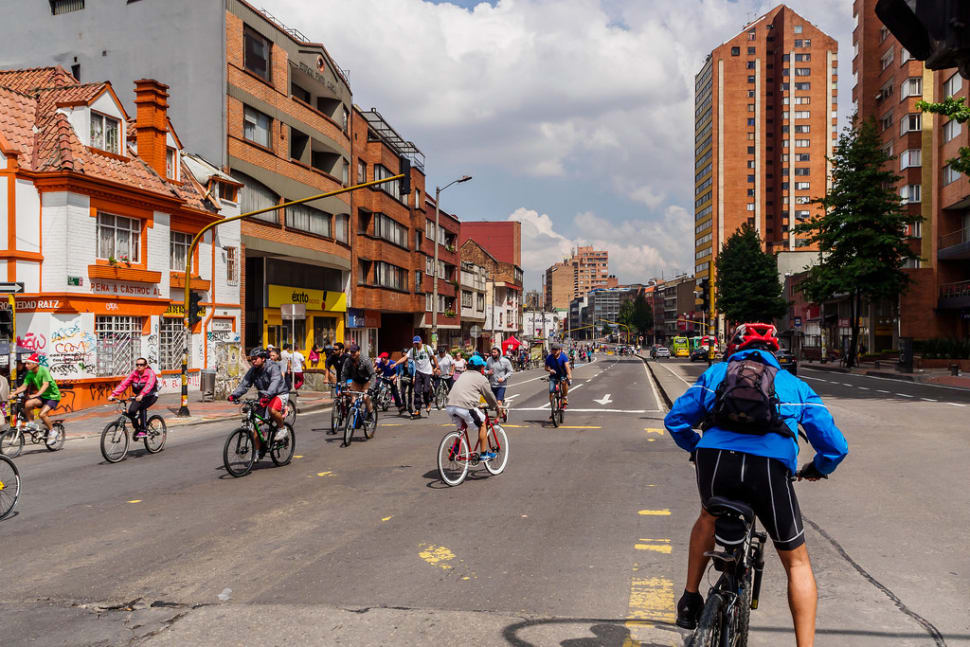 Best time for Sunday Ciclovía in Bogota in Colombia