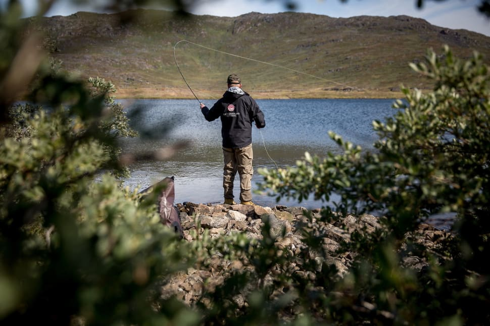 Fly fishing in the south of Greenland