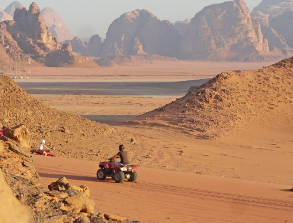 Desert ATVs at Wadi Rum