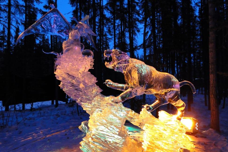 World Ice Art Championships in Alaska - Best Time