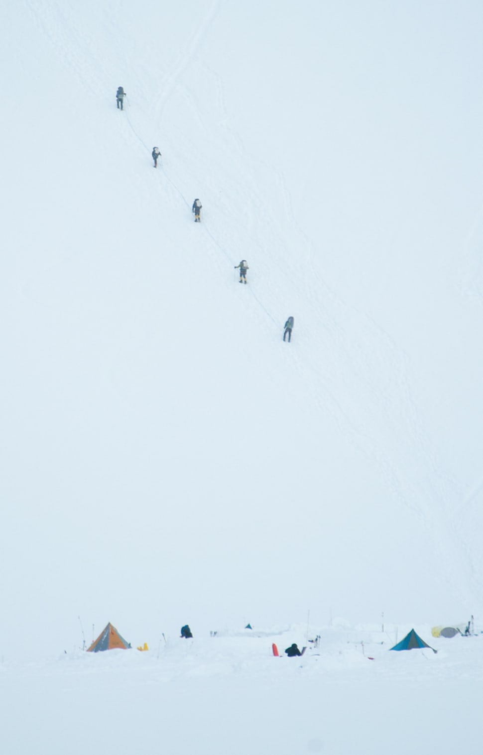 Climbers on McKinley
