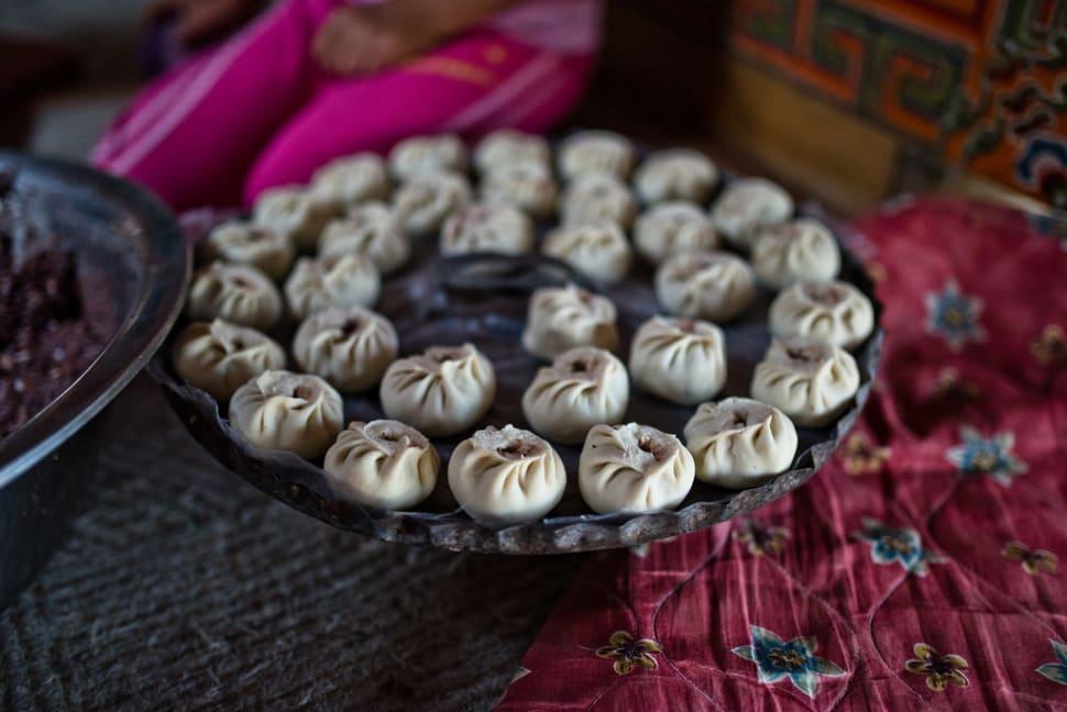 Buuz—steamed meat dumpling