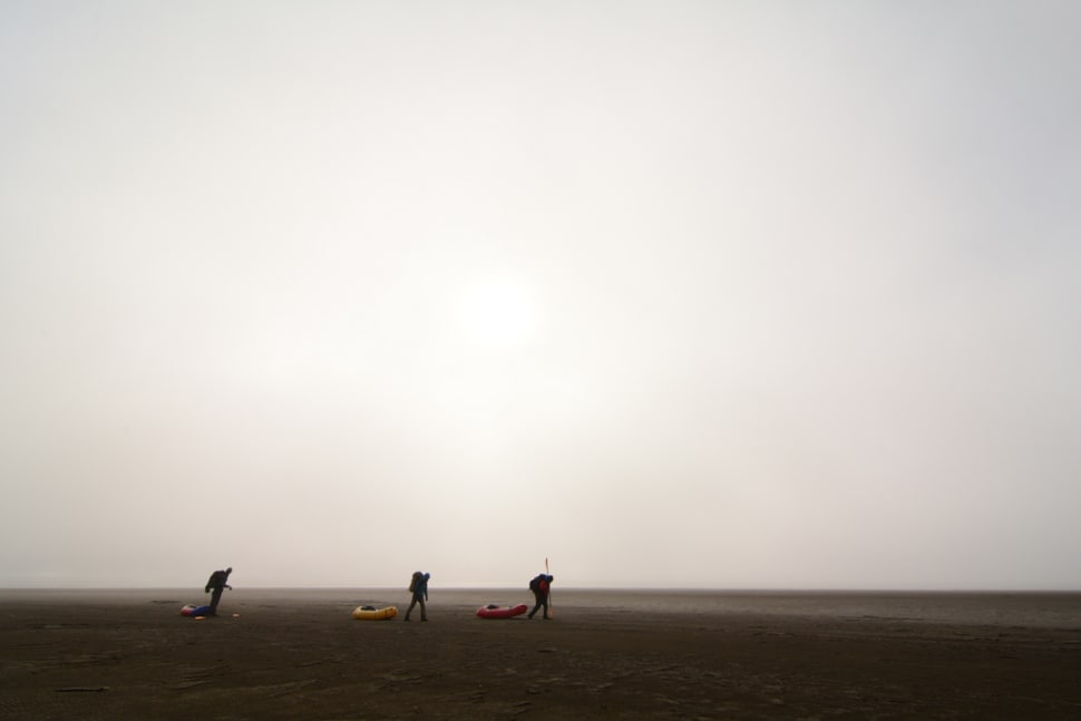 Dragging the packrafts for the last mile to the Arctic Ocean