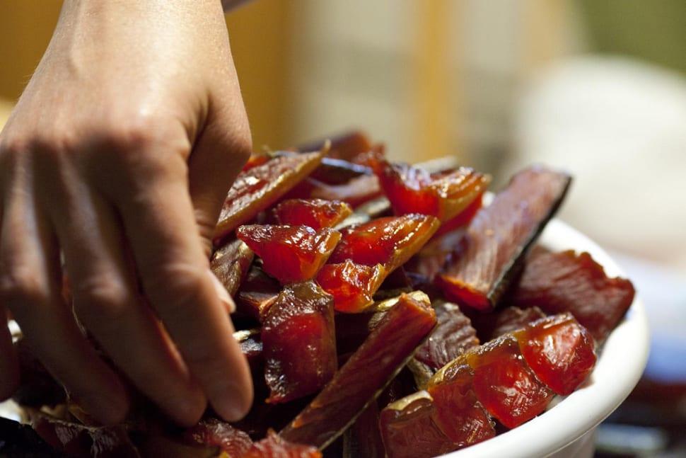 Cured Salmon Strips in Alaska - Best Season