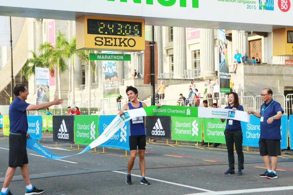 Local runner Mok Ying Ren finishes first in the local category