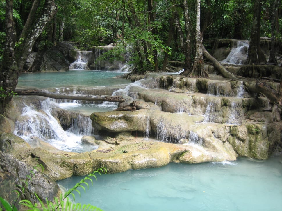 Erawan Falls in Thailand - Best Time