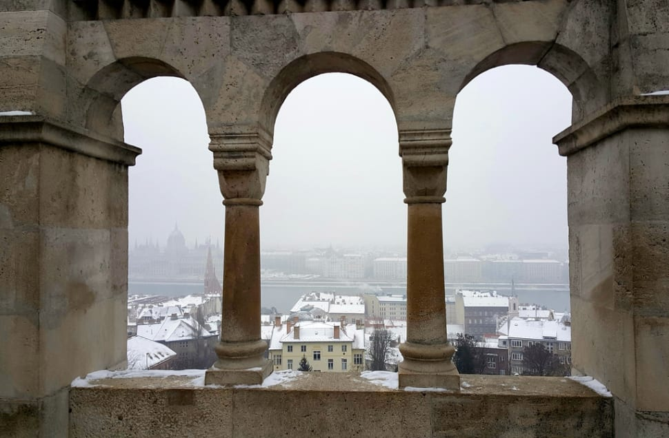 Best time to see Winter Wonderland at the Fisherman's Bastion in Budapest