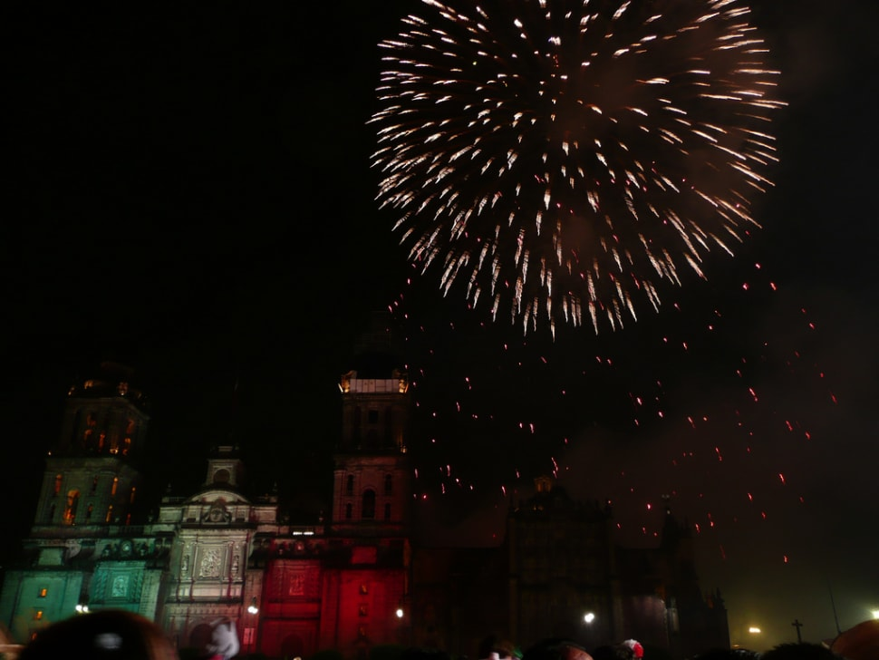 Independence Day fireworks in Mexico City