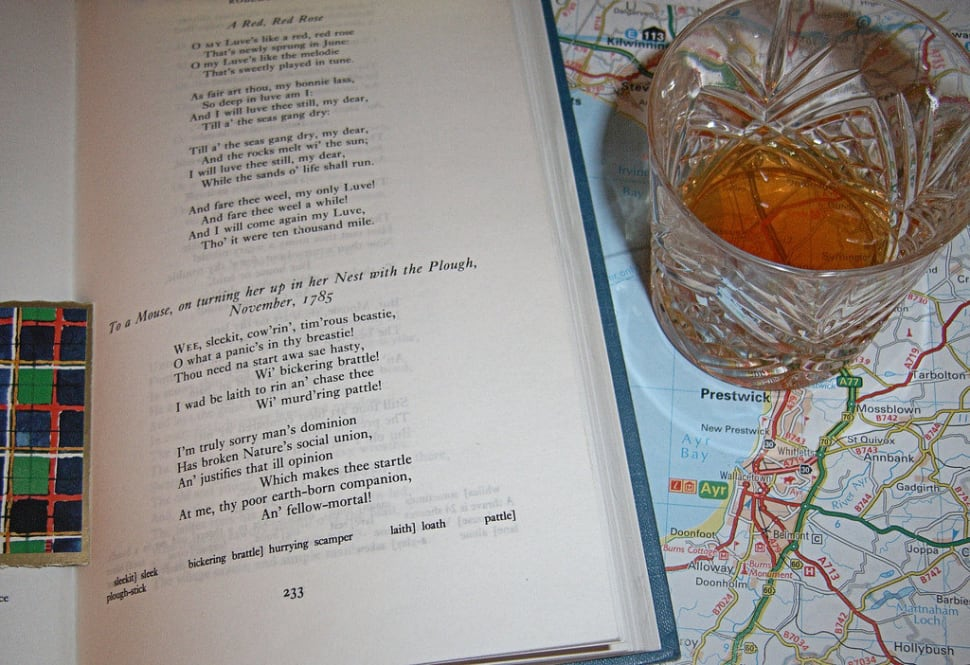 Poetry, whisky, and a map with Alloway, poet's birthplace