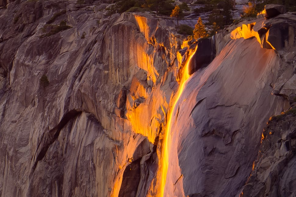 Best time for Horsetail Fall or Firefall in Yosemite